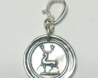 Sterling Silver Deer Enhancer Clip Pendant