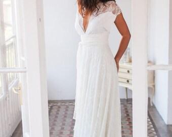 Robe de cocktail style boheme