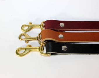 """Six Foot Leather Leash - 3/4""""  Leash - Brown Leather  Leash - Leather Lead - Available In 3 Colors and 4 Sizes"""