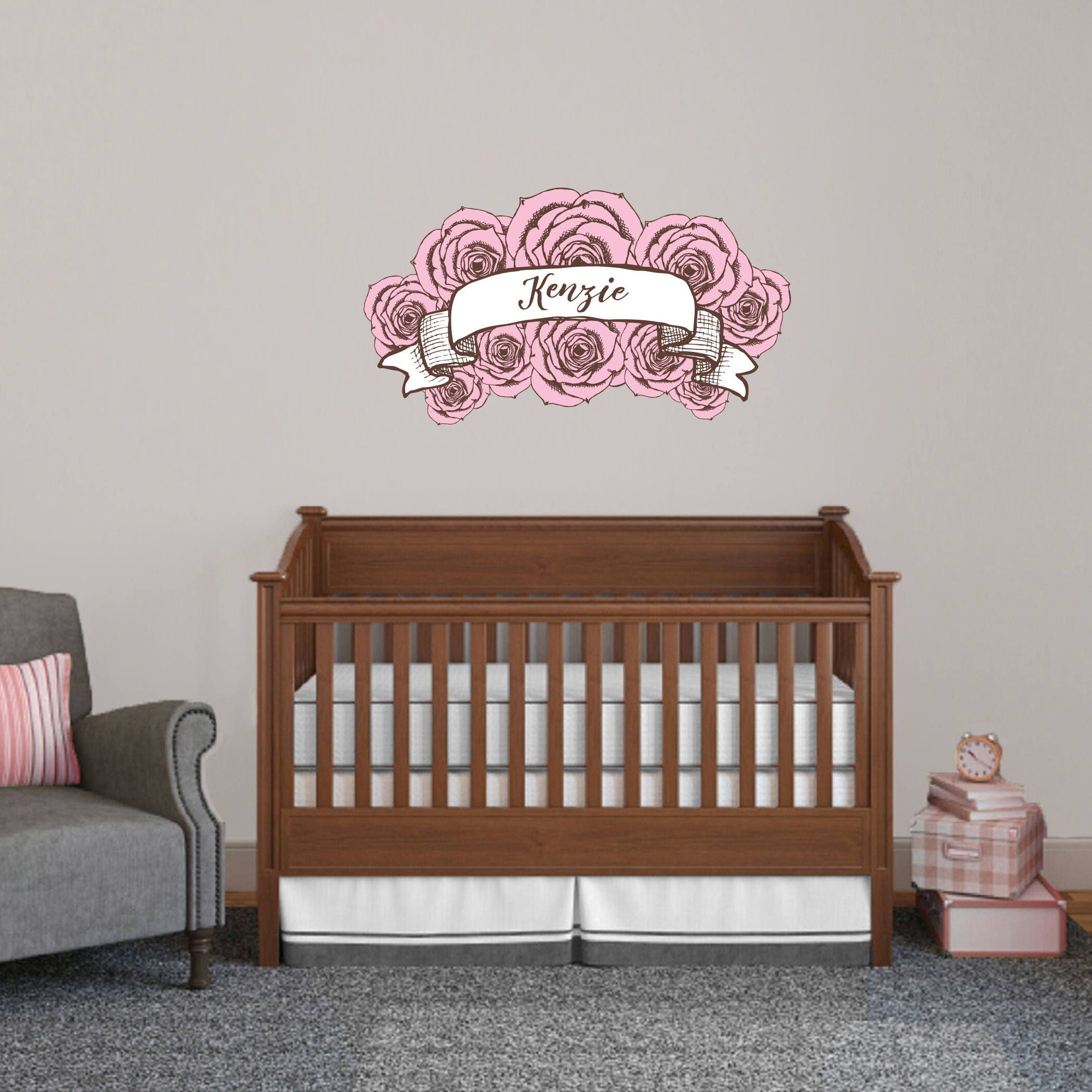Custome Roses Pink Wall Decal by SweetumsSignatures