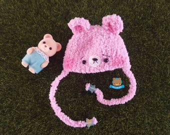 PINK kawaii bear hat for Lati Yellow, Pukifee, Mui Chan