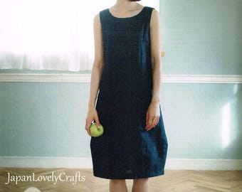 Japanese Style Dress Patterns, Yoshiko Tsukiori, Japanese Sewing Book, Easy Sewing Tutorial, Simple Tunic, Blouse, One Piece Clothes, B1833