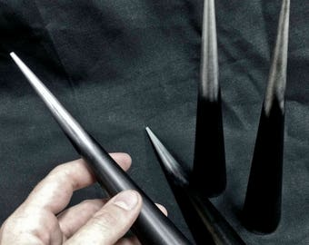 8 inch Cone Spikes - Machined Aluminum Antiqued -2 pack