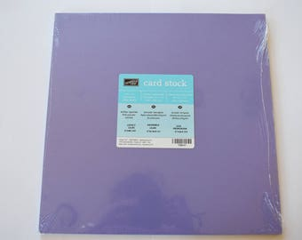 LOVELY LILAC Stampin' Up! Cardstock.  12x12.  20 sheets