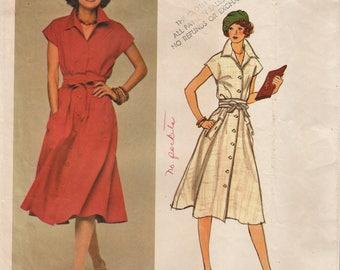 Vogue Paris Original 1245 / Vintage Designer Sewing Pattern By Nina Ricci / Dress / Size 14 Bust 36