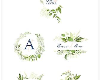 Custom Crest Monogram. Wedding logo. Wedding Monogram. Wedding Stationary. Monogram
