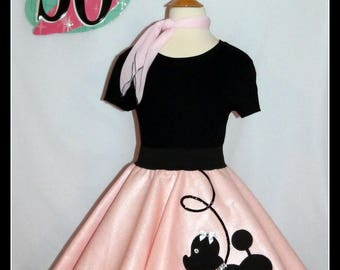 """My Beautiful """"Prancing"""" Poodle skirt Your choice of SIze and Color Toddler,Girls,Adult! Custom Made to Order just for you!"""