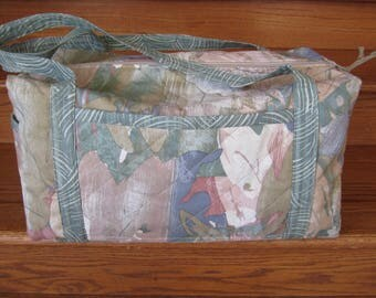 "Quilted Duffle Bag ""Abstraction"" Medium Size Duffel Bag, Travel Bag, Quiltsy Handmade, Overnighter, Weekender"