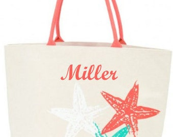 Palm Shore collection pineapple canvas tote starfish canvas bag