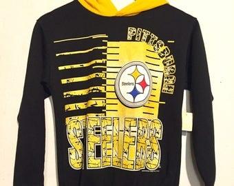 90s Vintage Pittsburgh Steelers Hoodie YL/ WXS wt75183