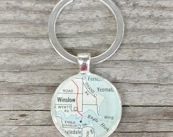 winslow bainbridge island keychain | 1984 Murray Street Map of Seattle