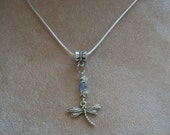Dragonfly Necklace, Silver and Crystals, 925 Silver Chain, Spirit Jewelry, Birthstone  Colors, by Brendas Beading on Etsy