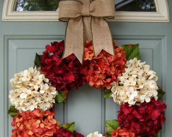 Fall Wreath - Fall/Autumn Wreath - Fall Door Wreath - Fall Door Decor Wreath