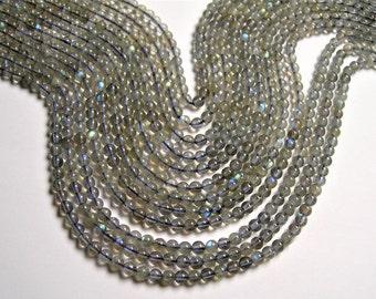 Labradorite - 3mm(3.3mm)  round beads - full strand - 116 beads - PG52