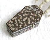 Small Coffin Box Halloween Ring Box Gift Box Trinket Box Goth Gothic Mummy Theme Voodoo Doll Gray