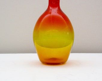Blenko Tangerine Decanter Stopper Joel Myers Book Piece #626 S (1964)