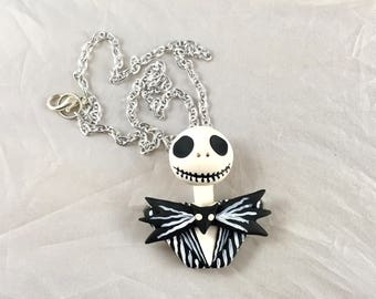 Jack Skellington Nightmare Before Christmas Inspired Necklace