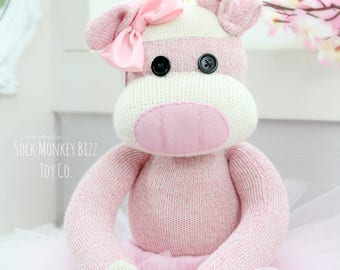 Children's Handcrafted Sock Pig Ballerina Doll