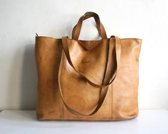 Extra Large Leather Tote Bag