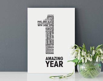 Wedding Anniversary Personalised Card - Personalized Anniversary Card - Anniversary Card for Him - Anniversary Card for Her