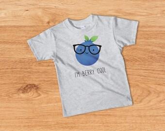 Hipster Toddler Clothing, Trendy Toddler Clothes, Trendy Toddler Tshirt, I'm Berry Cool, Hipster Kids Clothes, Trendy Kids T-shirt, Kids Tee