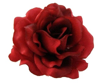 Silk Rose Flower Hair Clip, 7 Colors Available