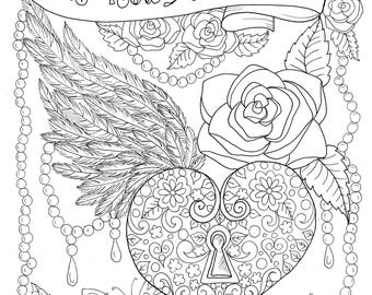 Christian Worship coloring page Instant download/church/ bible/God/hymns/music/color book/adult coloring