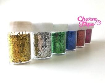 Loose Tinsel glitters, bottle UV resin, nail gel, acrylic nail, nail polish glitter No hole Metallic Embellishment Costume Craft