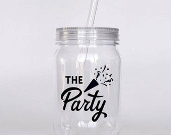 Coordinating Bachelorette Party Tumbler Favor Weekend Gift Custom Plastic Mason Jar