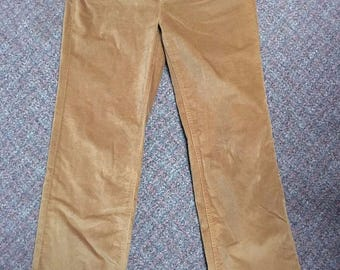 Vintage Women's Corduroy Pants Made By Talbots Size 8 High Waist Stretch