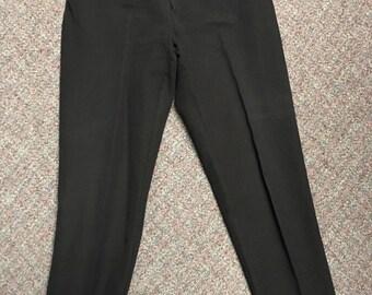 Vintage Women's Dress Pants Black Made By Eddie Bauer Size 10