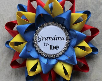 Boy Baby Shower Decorations, Baby Boy Shower Corsages, Superman Theme,  Royal Blue,