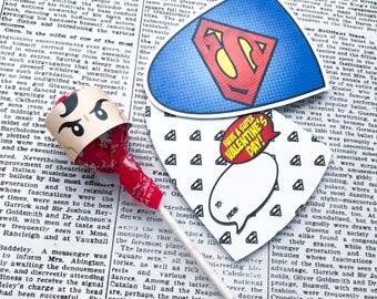VALENTiNE Superhero Collection. Caped Cutouts. DIGITAL DOWNLOAD. DiY Printable Design. Pinkadot Shop