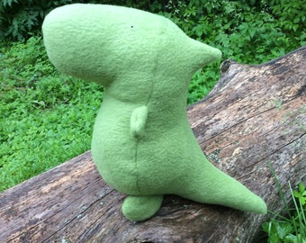 Dinosaur Plush - Green Dinosaur Softie - Toddler Toy