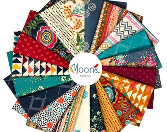 ONE YARD BUNDLE Indie Folk, Art Gallery Fabrics, Pat Bravo, Complete Collection 20 Yards, Boho Fabric Bundle, Cotton Quilt Fabric, Quilting