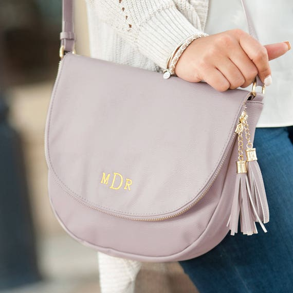 Sienna Tassel Bag in Blush Pink