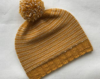 Yellow hat Knit Hat Wool hat Soft hat Hat for her Handmade hat Hat for winter Hat for her READY TO SEND