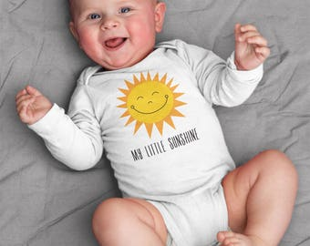 Baby boy clothes, baby girl clothes, My Little Sunshine baby bodysuit, short sleeve, long sleeve, 3 months - 18 months, baby shower gift