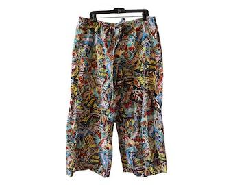 Marvel Comics Super Hero Characters Pajama Pants Size XL