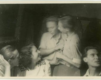 "Vintage Photo ""Blurry Twins"" Snapshot Antique Black & White Photograph Found Paper Ephemera Vernacular Interior Design Mood - 13"