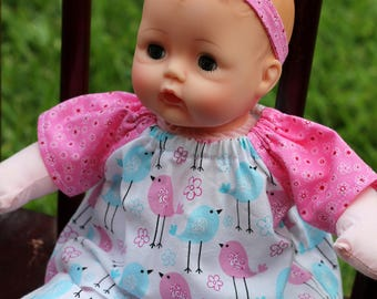 12 inch Corolle Doll Shirt and Pants, 12 inch Huggums Shirt and Pants, Doll Top and Pants, Doll Pajamas, Pink Doll Clothes