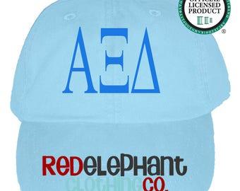 Alpha Xi Delta Hat, Sorority Monogram Baseball Cap, Personalize Baseball Hat, Sorority Gift, Monogram Hat, Embroidered Ball Cap, Monogrammed