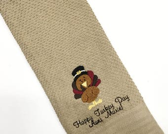 Thanksgiving Towels, Thanksgiving Hand Towel, Thanksgiving Dish Towel, Thanksgiving Decor, Turkey Hand Towel, Turkey Towel, Turkey Decor