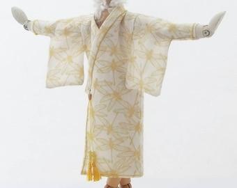 DOLLHOUSE MINIATURE 1-12 SCALE Cotton Hand Printed Kimono