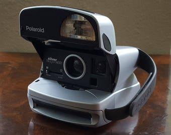 Polaroid Silver Express 600 Vintage Instant Film Camera