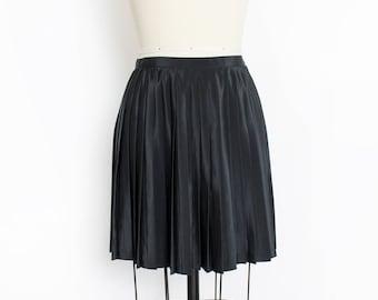Vintage 1980s Mini Skirt - BENETTON Pleated Italian Designer Shirt Preppy - Small