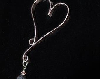 Rose tone diffuser necklace