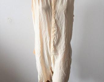 Antique Men's Silk One-piece Underwear Rogers Peet Unisex