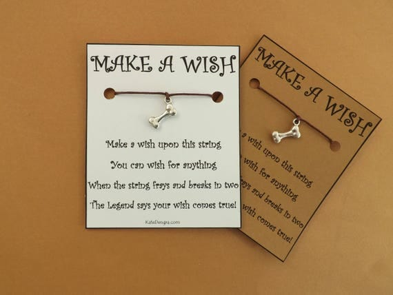 Dog Bone Wish Bracelet