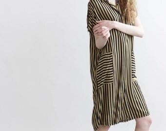 Summer Sale 30% off  straps dress , black and gold straps dress.